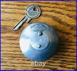 1920s 1930s Studebaker OAKES SPARE TIRE LOCK withLOGO KEY vtg exterior accessory