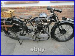 1924 AJS 350cc 2.75 HP Model B1 Rare Vintage Motorcycle Vintage Bike