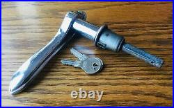 1932 Willys Knight Overland DOOR HANDLE withKEYS vtg 1930s NOS exterior lock