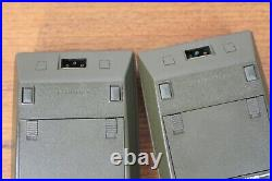 (2) Vintage Hewlett Packard HP 67 Scientific Calculators with cases Untested As Is