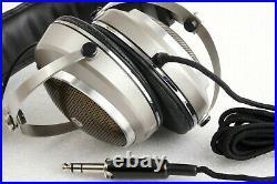 AIWA HP-500 Stereo Headphones Rare Vintage Retro Japan Mint + Vinyl Case Manual