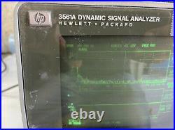 Agilent HP Keysight 3561A Dynamic Signal Analyzer Untested Vintage (Obsolete)