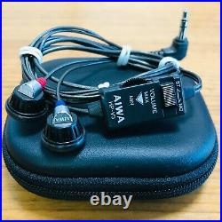 Aiwa HP-V3 Vintage In-Ear Stereo Earphones Fully Working Manufactured 1983