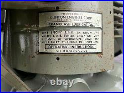 Clinton 4.5 HP 4 Cylinder Nos Vintage Engine Pull Motor Never Run