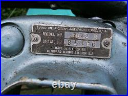 Evinrude Lightwin 3042b 3 Hp Vintage Outboard engine Rare classic 1960s model
