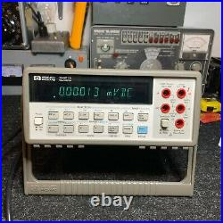 HP 34401A Digital Multimeter One Owner with Original DocumentationNever used