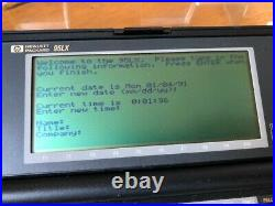HP 95LX pocket PC DOS computer. Rare like HP 200LX 100LX vintage excellent cond
