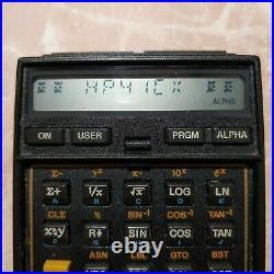 HP41CX HALF-NUT Scientific Vintage calculator Good condition