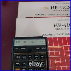 HP41CX Scientific Vintage calculator withCase & Manual Vol 1 & 2 Good condition