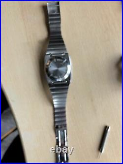 Hewlett Packard HP-01 Vintage LED Calculator Watch Stainless Steel with Manual