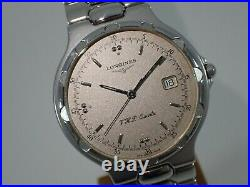 LONGINES CONQUEST V. H. P. Silver Dial Ref. 4018 Cal. L174.4 Swiss Vintage Watch