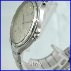 Longines Conquest V. H. P Date Men's Silver Vintage Watch Swiss Quartz