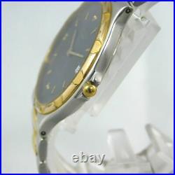 Longines Conquest V. H. P Navy Date Men's Silver Gold Vintage Watch Swiss Quartz
