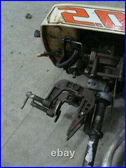 Montgomery ward Sea King 2.0 2hp outboard engine motor vintage lower unit prop