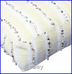 Moroccan Wedding Blanket Handira Pouf Pouffe Cover 65x65x25cm (HP1)