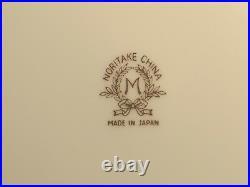 NORITAKE CHINA VTG HP ROSES GOLD FILIGREE M 1930's SERVICE 6 + SERVING 52 pcs
