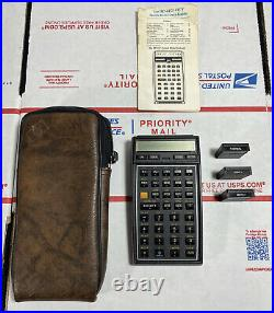 NR MINTHewlett-Packard HP-41C Vintage Calculator +3 MODULES / Case WARRANTY