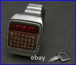 RARE Working Hewlett Packard HP-01 LED Calculator Digital Watch Model 1 Vintage