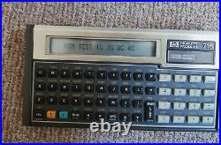 Seltener Hewlett Packard HP 71B Taschenrechner CMT Vintage Calculator