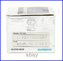 Shimano HP-7400 Road Bike Headset 1 Threaded BC1 30.3-26.4mm Silver Vintage