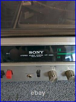 Sony HP-239A Retro Record Player & Speakers Circa 1972