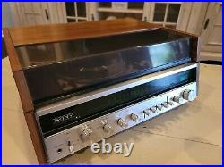 Sony VTG Solid State Wood Turntable Stereo Music System HP-610A, tested