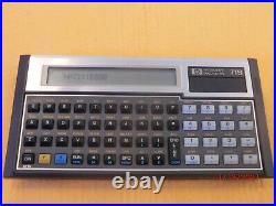 VINTAGE HP-71B Programmable BASIC Pocket Computer & Pouch
