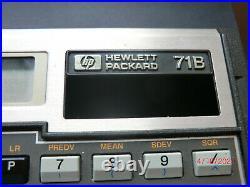 VINTAGE HP-71B Programmable BASIC Pocket Computer works on A/C Supply