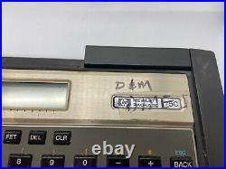 VINTAGE HP-75C Programmable BASIC Pocket Computer & 82718A Expansion