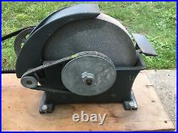 Vintage 10 Grinding Stone Wheel with Rockwell Electic Motor 1/3 hp Shop Tool