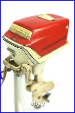 Vintage 1950's SCOTT ATWATER 40 HP Toy Outboard Boat Motor Collectors Estate