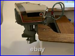 Vintage 1958 K&O Evinrude Outboard Toy Boat Motor Starflite V4 Four Fifty 50 HP