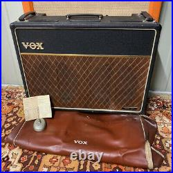 Vintage 1965 Vox AC30 2×12 Bass Amplifier Combo One Owner Hessy with HP & Cover