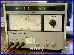 Vintage 1966 HP 414A Autovoltmeter with Probe Tests Leads and Power Cable