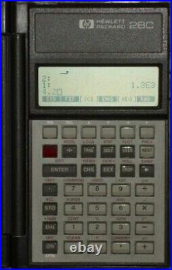 Vintage 1987 Hewlett Packard 28C Scientific Calculator Made in USA
