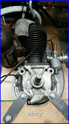 Vintage Atco Villiers petrol 2 stroke stationary engine 1 1/2hp collectable