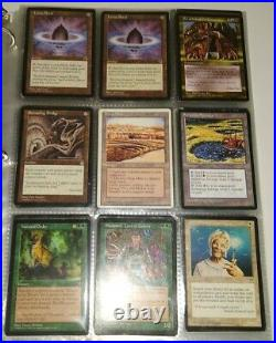 Vintage Binder Lot of 186 Magic The Gathering MTG Great Value Cards LP to HP