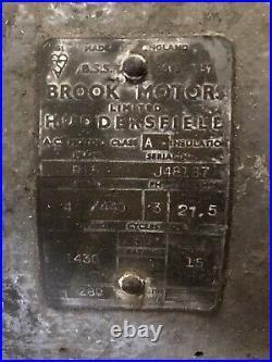 Vintage Brook Motor 15hp