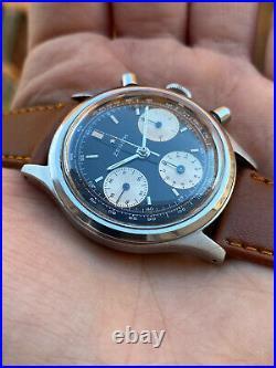Vintage Chronograph Zenith A2711 A386 A385 A384 Rare Reverse Panda 60s 146hp