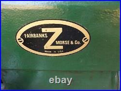 Vintage Fairbanks Morse 3 1/2 HP Z type stationary engine very rare barn find