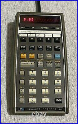 Vintage HP-65 LED Scientific Calculator