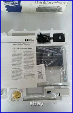 Vintage HP THINKJET 2225B with HP-IL to Work withHP41 and HP71 CALCULATORS (NIB)