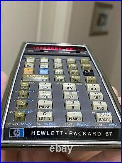 Vintage Hewlett-Packard HP-67 Programmable Calculator Collector Quality Bundle