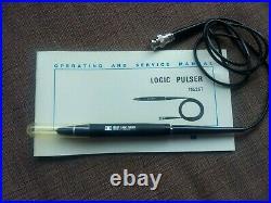 Vintage Hewlett Packard HP Logic Kit Includes Probe, Pulser, Clip Manuals & Case