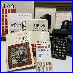 Vintage Hewlett Packard HP34C with Case Documention In its Original Box Untested