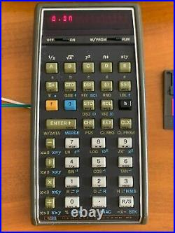Vintage Hewlett-Packard HP67 Programable Calculator withoriginal carrying case