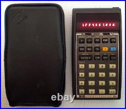 Vintage Hewlett Packard RPN Red LED Financial Calculator HP 38E + Case + QRC