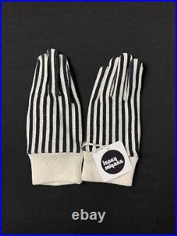 Vintage Issey Miyake Striped Cotton Gloves NWT HP73078