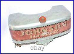 Vintage Johnson 22HP PO-15 GAS FUEL TANK Outboard Seahorse Boat Motor Part
