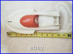 Vintage Johnson 40 HP Toy Model Boat Outboard Motor with Boat & Trailer RARE